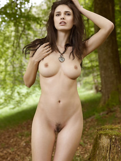 Sexy Brunette Nude In The Nature