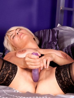 Dana Horny Milf Toying Her Pussy With Huge Dildo