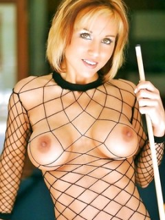 Kath Marie Rescue Her Tits From Sheer And Fishnets