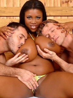 Big Titty Mama Takes Two Hard Cocks