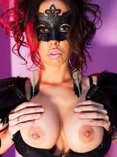 Big Boobed Brandy Aniston In Mask
